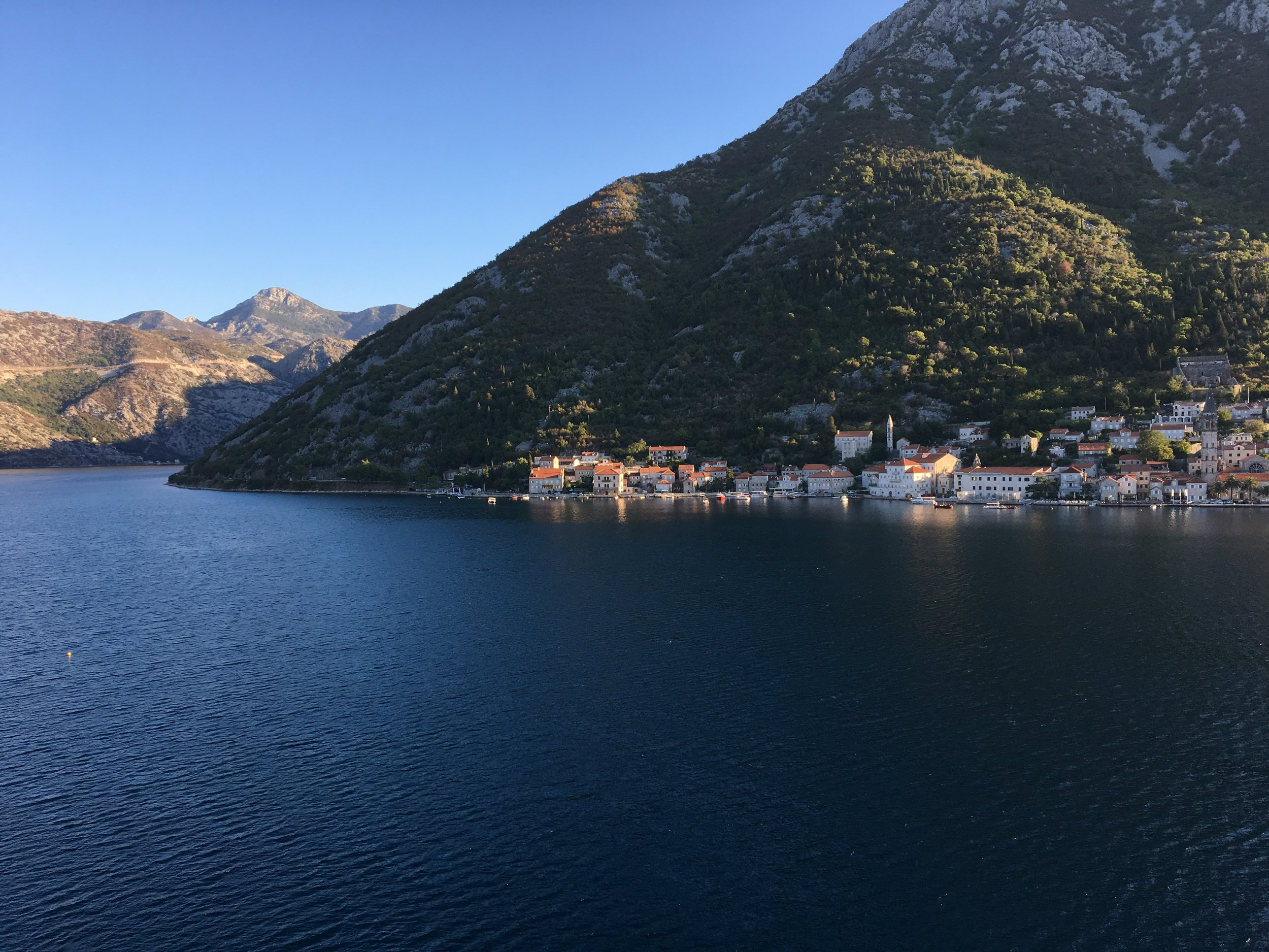 Montenegro at sunrise from the cruise ship!