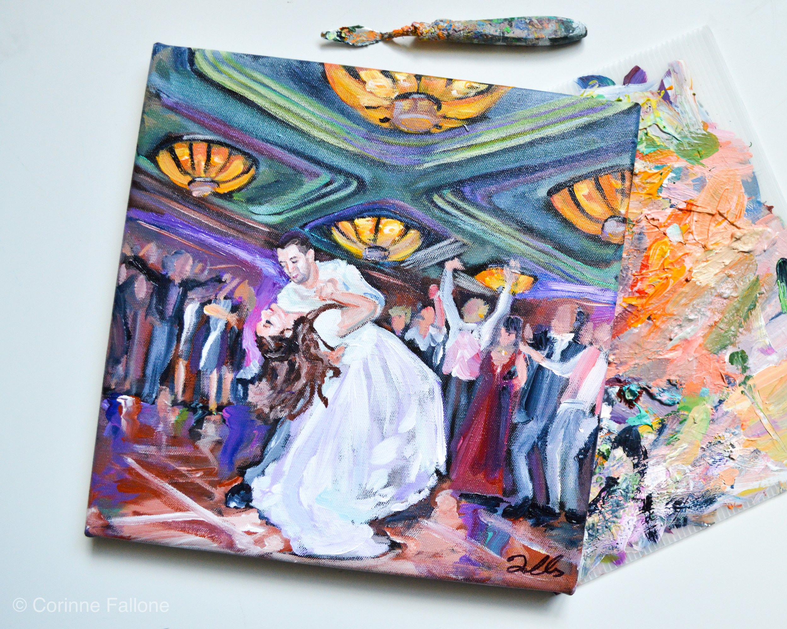 wedding painting first dance