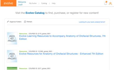Example of Evolve Website for supplemental information.