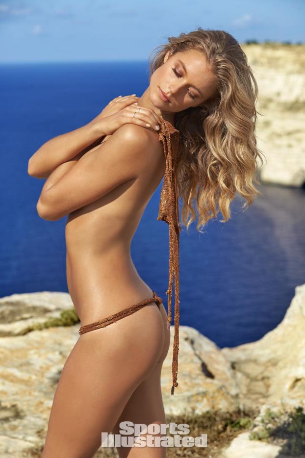 Copper brown lace thong bikini