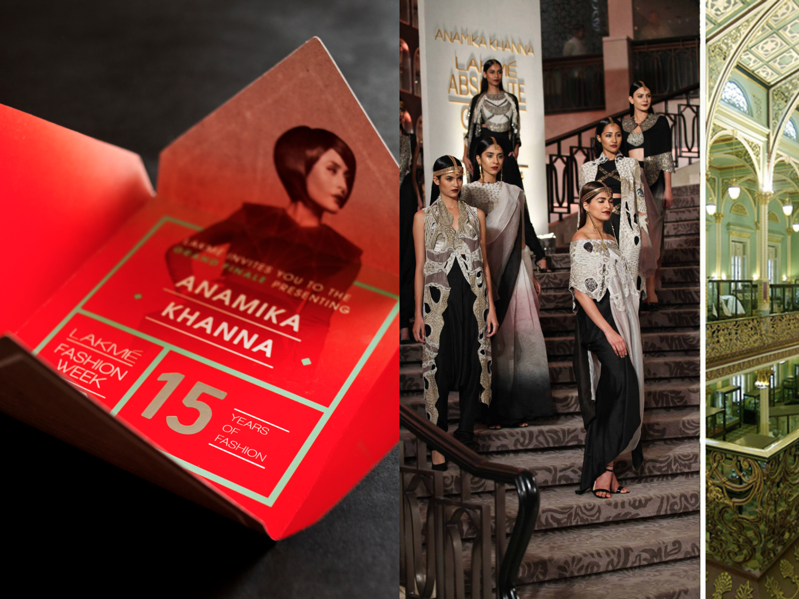 The event ended with the Grand Finalé with designer Anamika Khanna at the Dr. Bhau Daji Lad Museum,which is a building from the 17th century with breath-taking Victorian-style architecture and a bright turquoise interior.The invite was made specific to the designer's brief for her clothing line and in tandem with the location of the event.