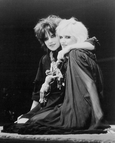 Shannon Wilhelm and Mary Bat Thing (Dinah Cancer) in Castration Squad, photographer unknown, collection of Alice Bag