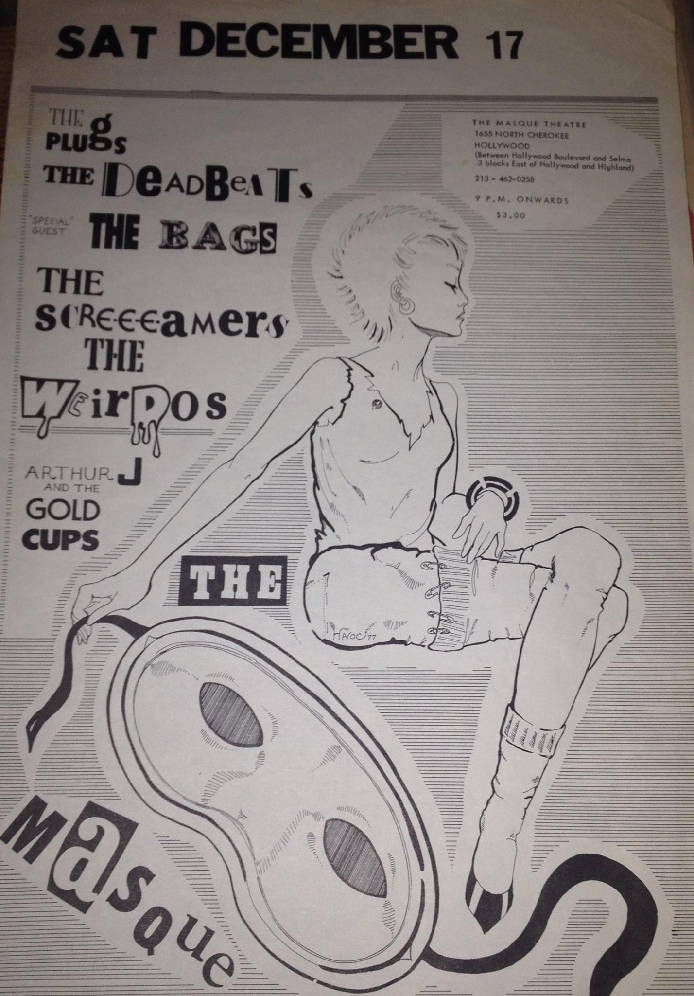Original Masque show flyer, 1977