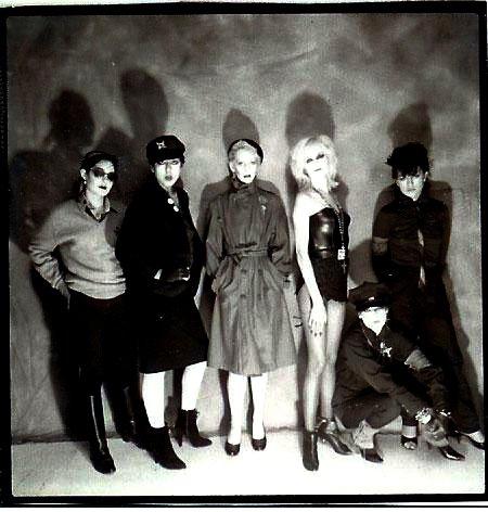 Tracy Lea, Alice Bag, Tiffany Kennedy, Dinah Cancer, Shannon Wilhelm, Elissa Bello in Castration Squad, circa 1981.