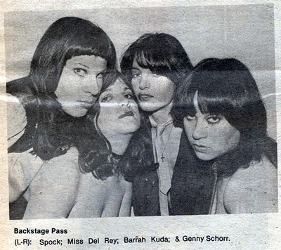 Backstage Pass, photo by Jenny Stern/Lens, as published in NY Rocker May/June 1977