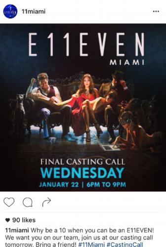 E11even Miami Instagram Recruitment
