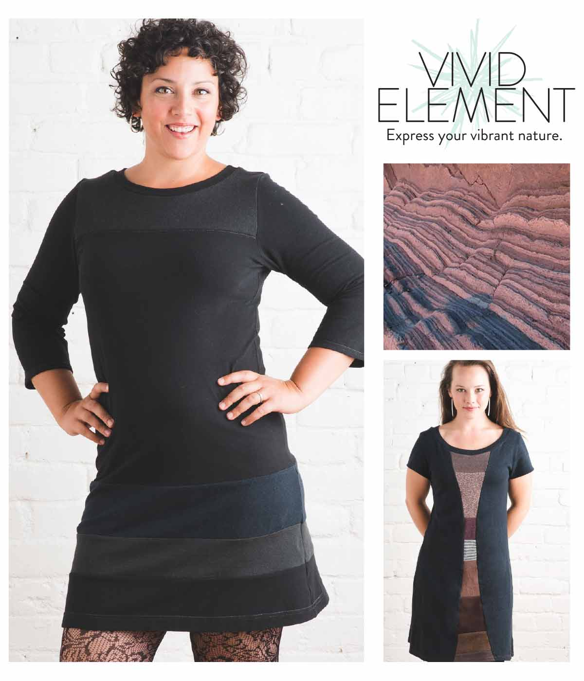Find Vivid Element's Stargazer Dress in Outerspace Blacks and Time Travel Dress at the trunk show December 9 & 10, 2016.