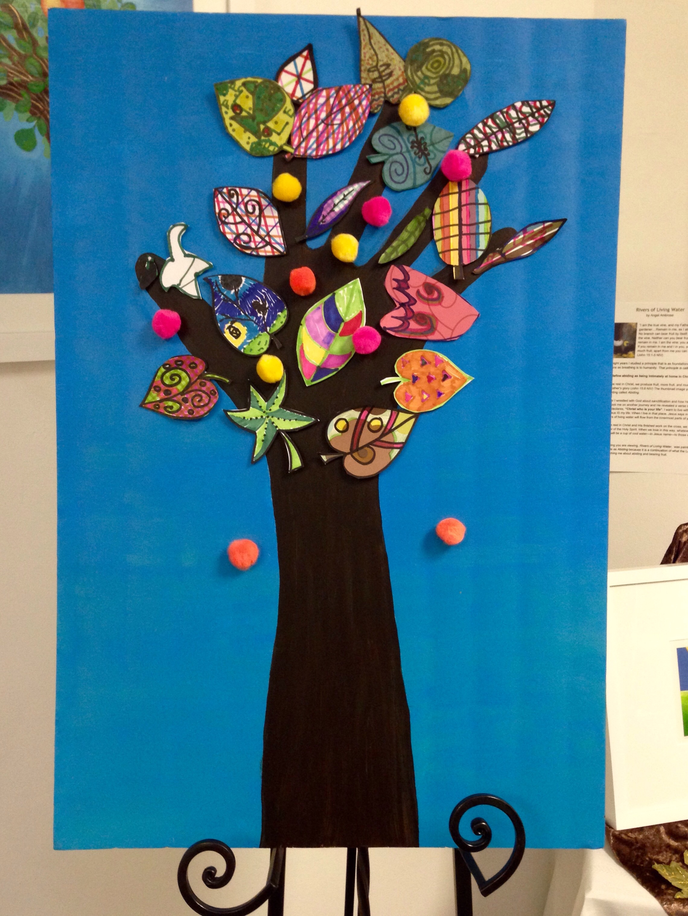 The finished Community Tree Project. Awesome!