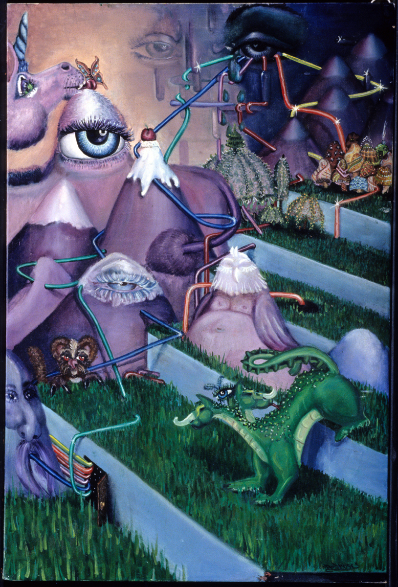 The Dream.  Painted while I was in high school, during a summer art program for youth, at ISU.