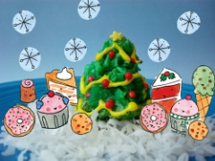 Christmas tree macaroons