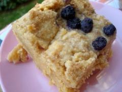 Cornmeal blueberry cookie bars