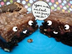Chocolate gooey butter cake
