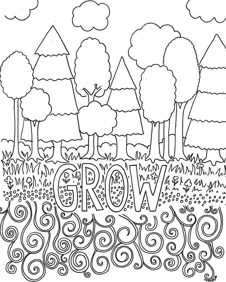 - Free Coloring Book Pages: Nature Themes — Jessie Unicorn Moore