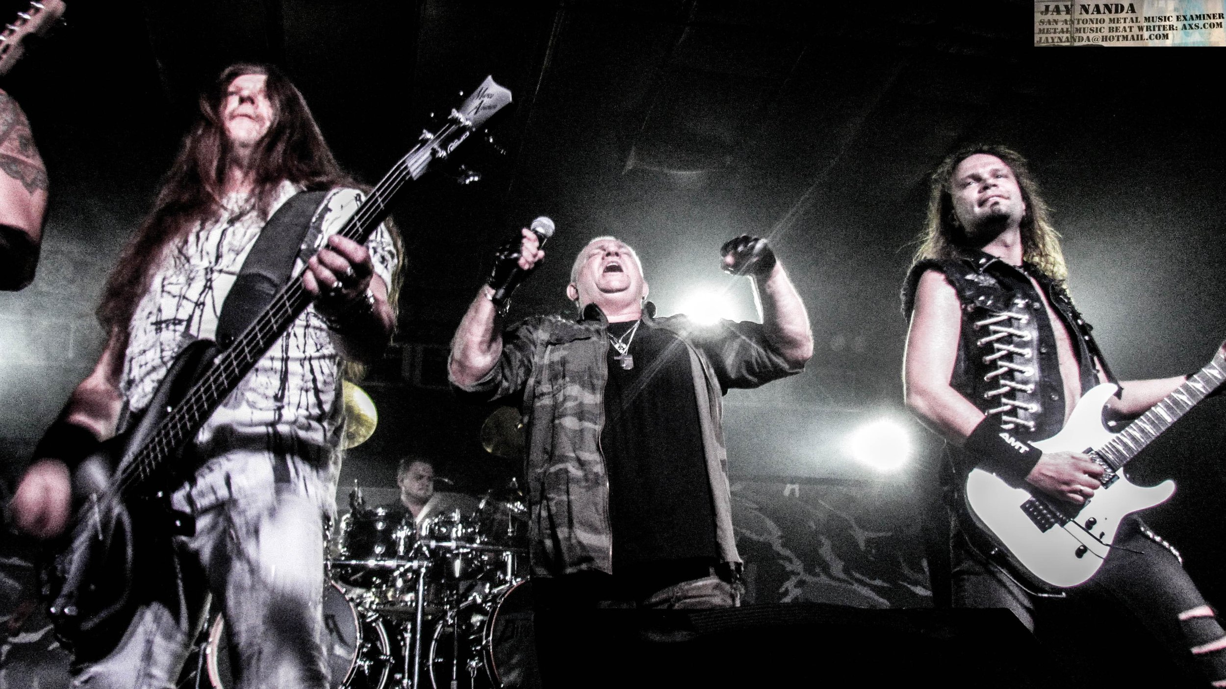 """Former Accept vocalist Udo Dirkschneider (second from right) and his band returned to the Alamo City on Tuesday night for his """"Back to the Roots 2"""" tour at The Rock Box."""