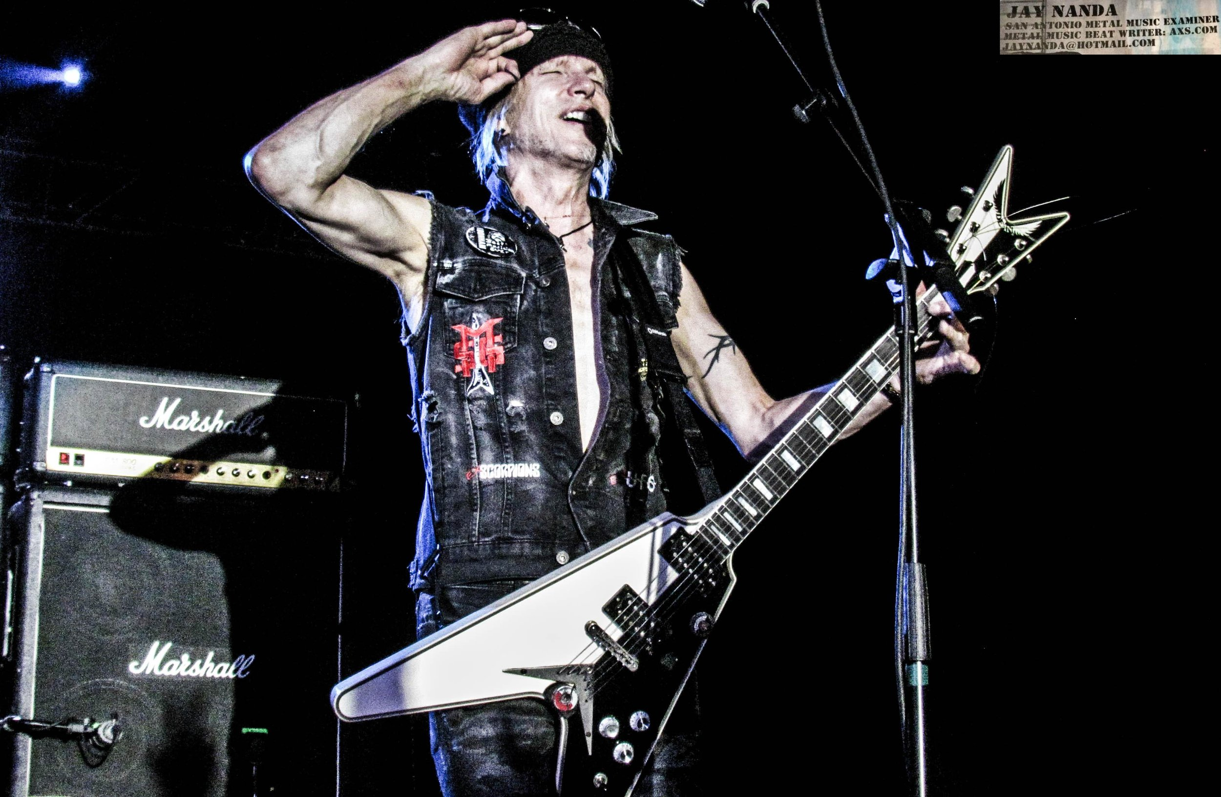 Schenker salutes the crowd, but in truth, the fans were not worthy to a 2-hour, 40-minute performance that spanned his Scorpions, MSG and UFO career.