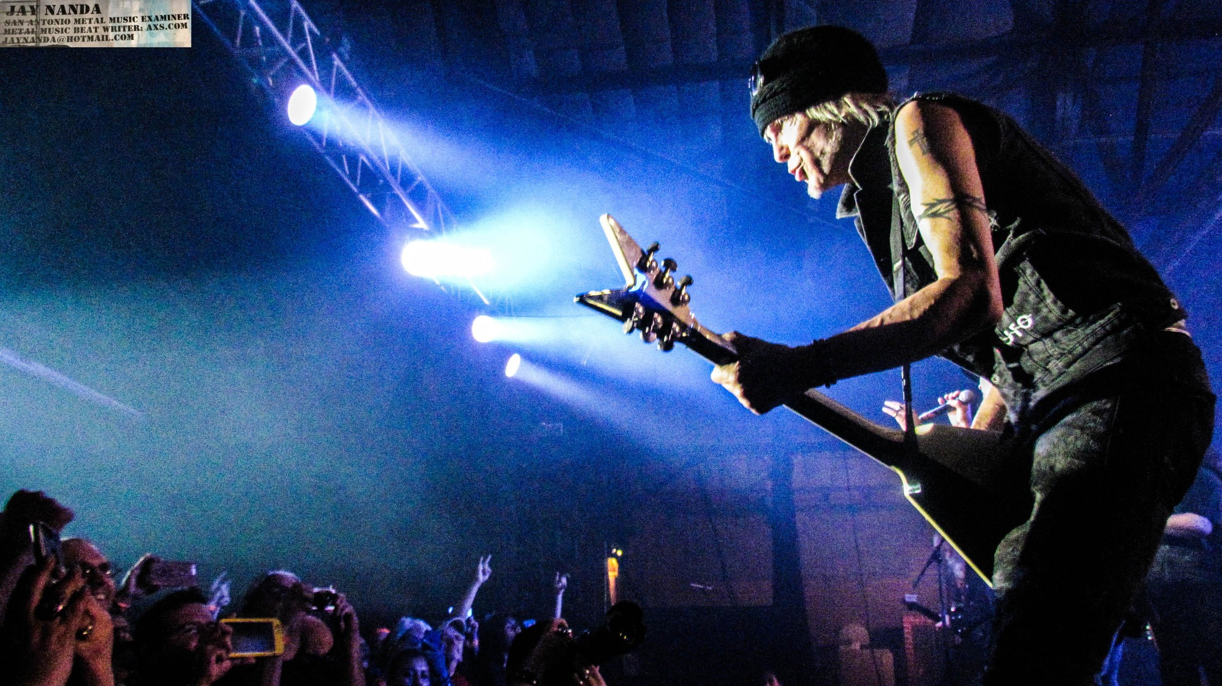 A packed Vibes Event Center was treated to nearly three hours of Schenker's influential career on the guitar.