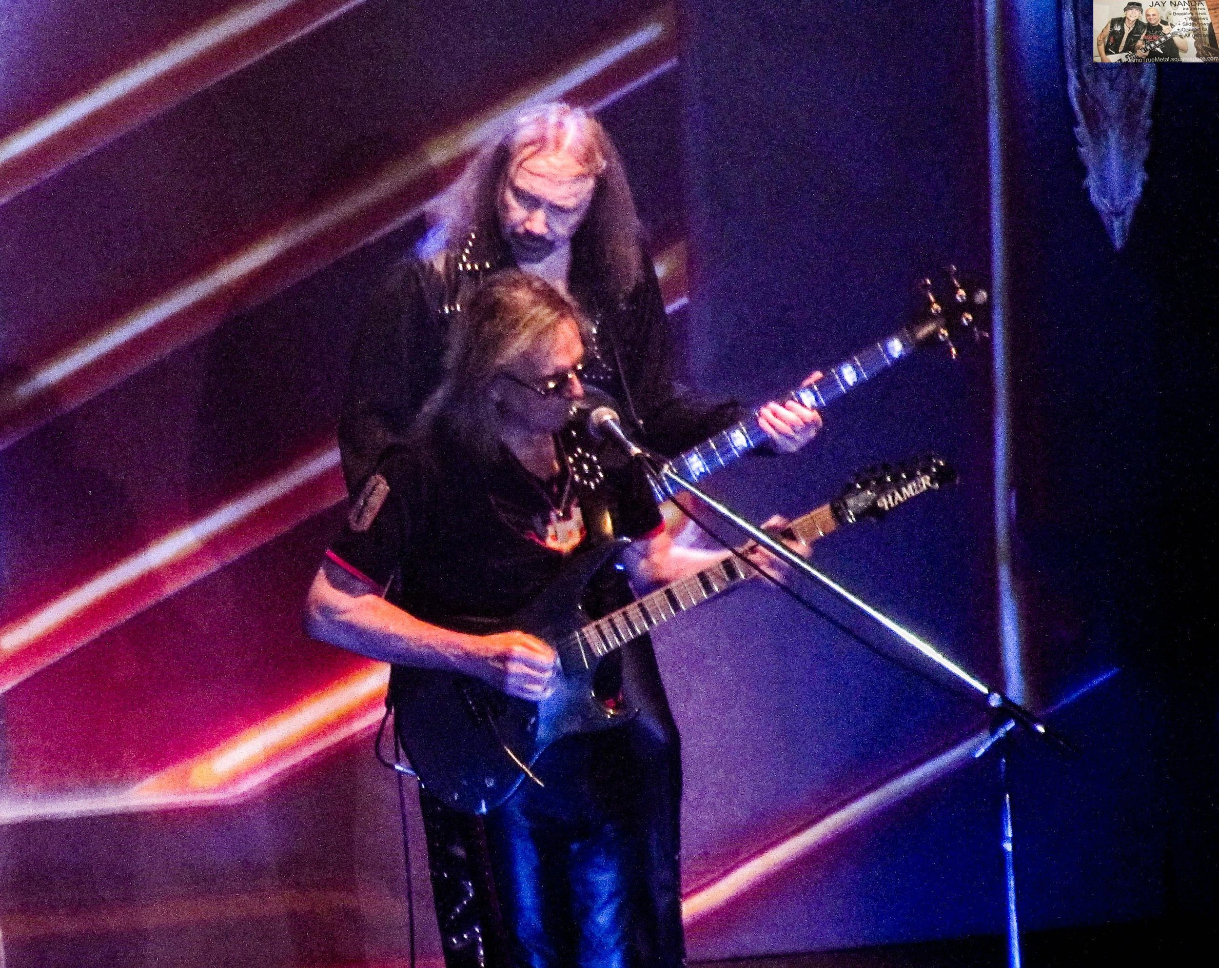 """Parkinson's couldn't keep Tipton sidelined for too long, as the original guitarist accompanies Hill on the second of three  British Steel  encores """"Breaking the Law."""""""