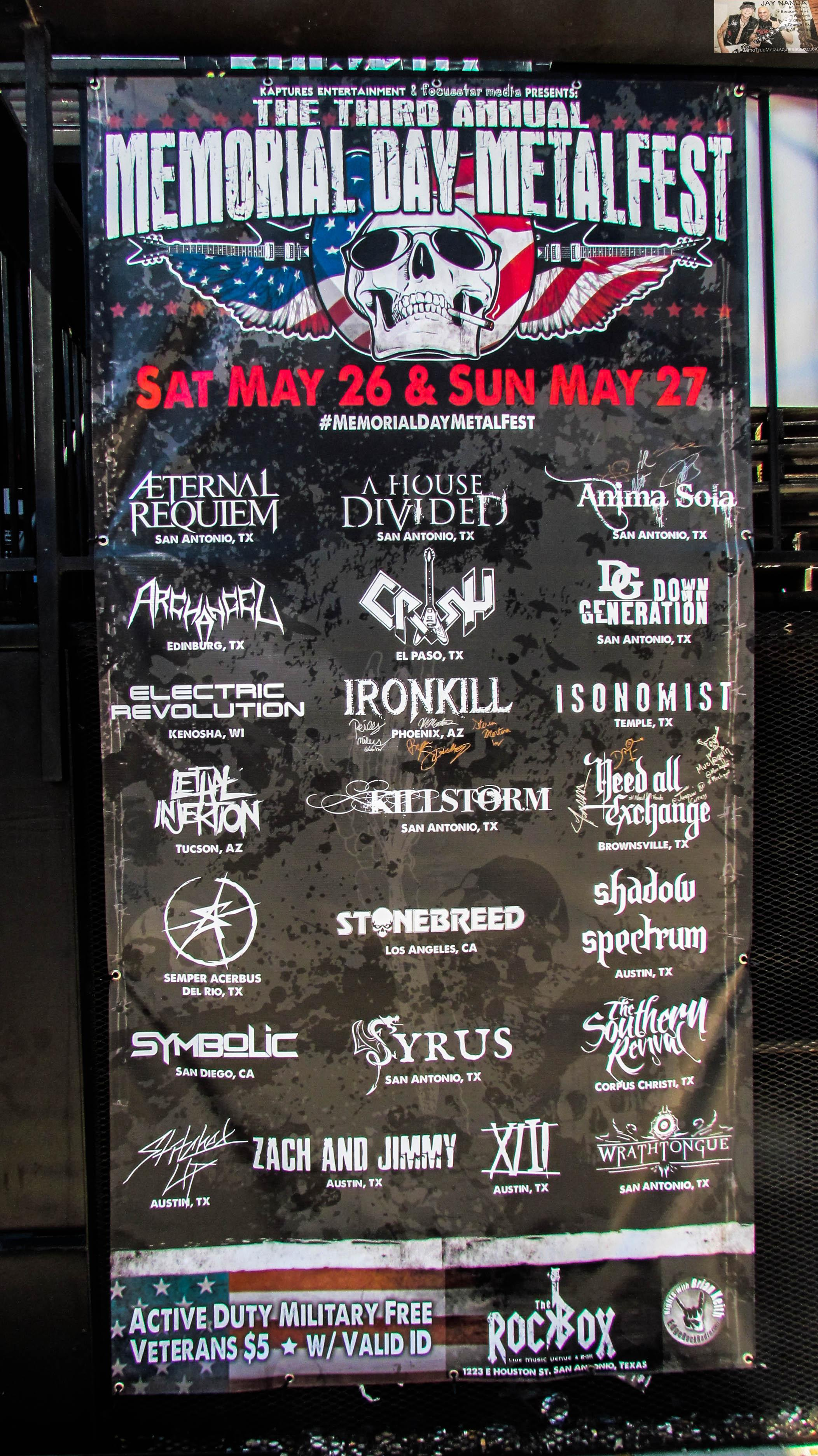 The schedule of 22 bands from around the nation — 11 on Saturday and 11 on Sunday — was whittled to 20 when Stitched Up could not make it from Austin, while locals Down Generation dropped out of a 1 a.m. Sunday night set time prior to the holiday.