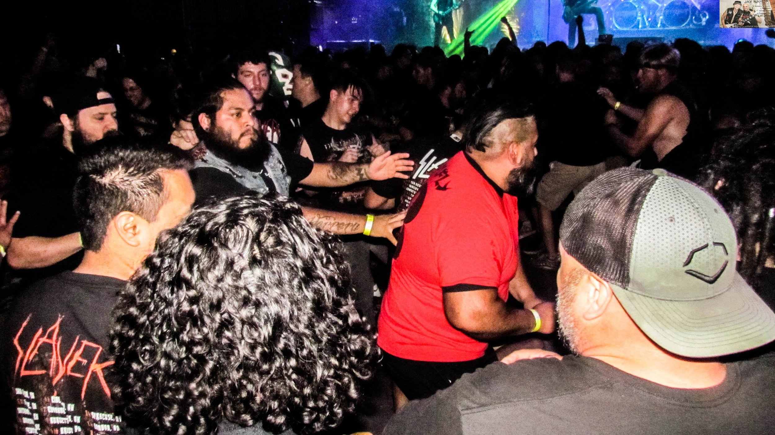 """The pits intensify as Testament ends its set with """"Over the Wall."""""""