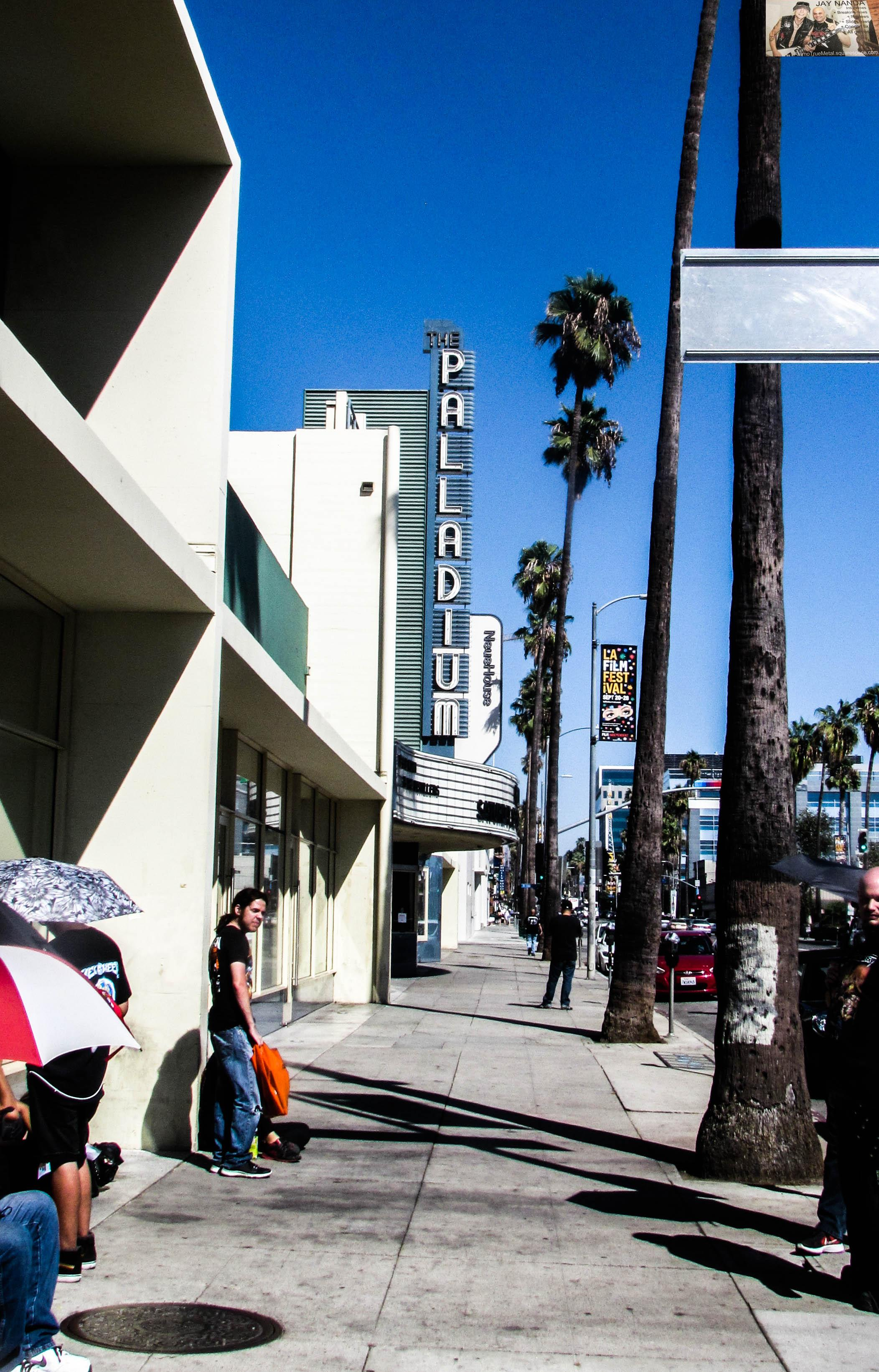 The Palladium, which was opened in part by Frank Sinatra in 1940, sits on Hollywood's Sunset Blvd.