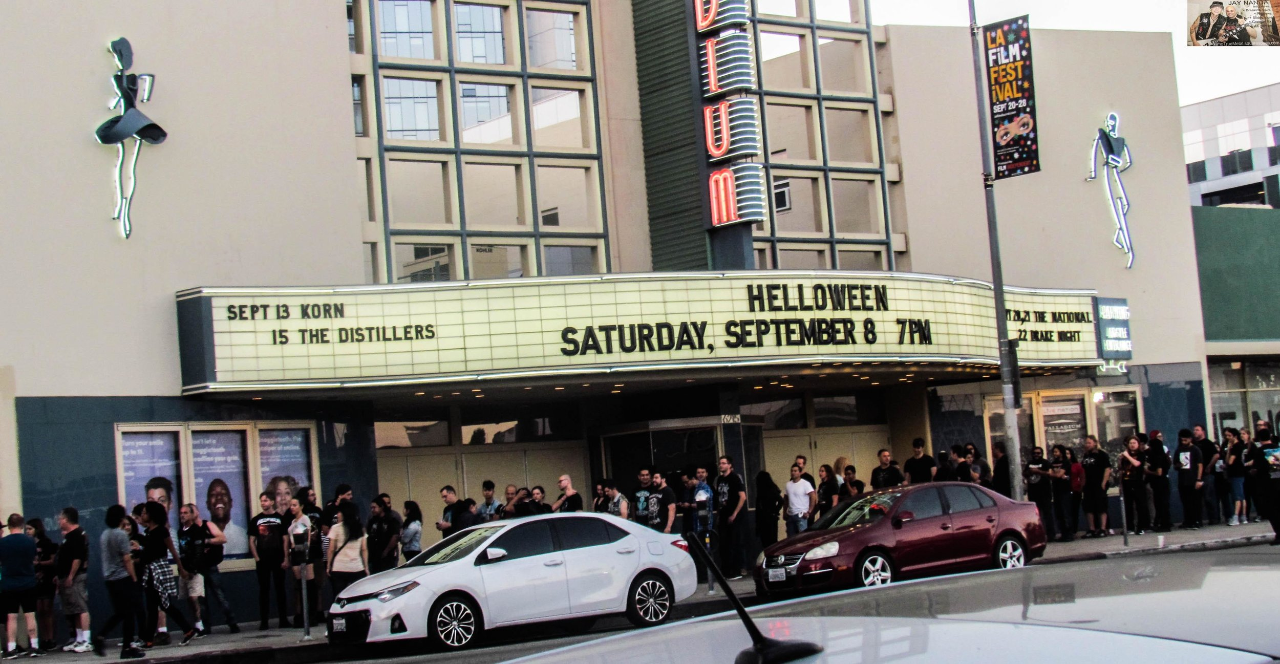 The line begins to stretch around the block on the Sunset Strip just prior to doors opening.