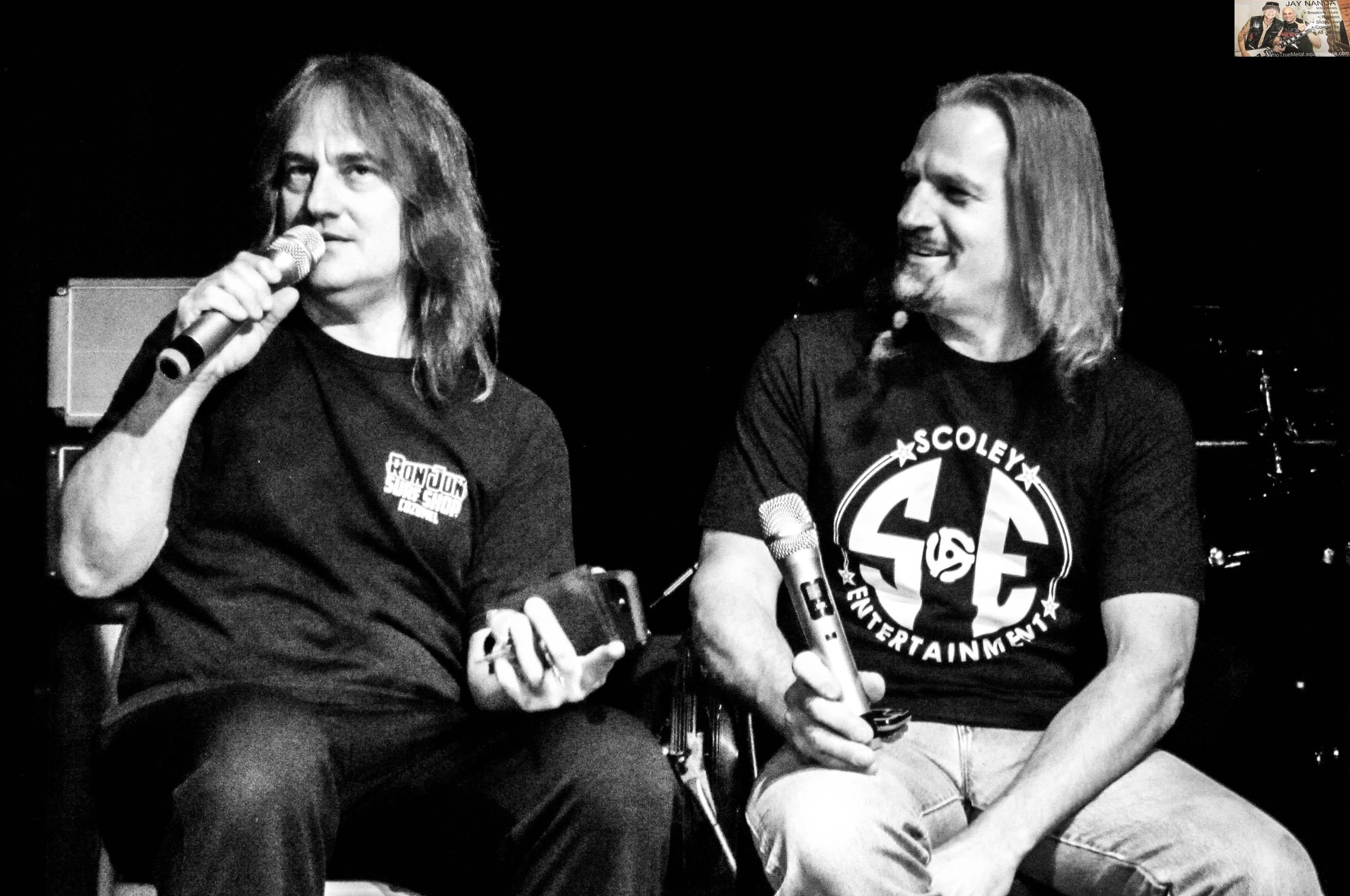 Ron and Bobby Jarzombek not only performed together for a rare instance but jointly took part in the Q&A just prior to its ending.