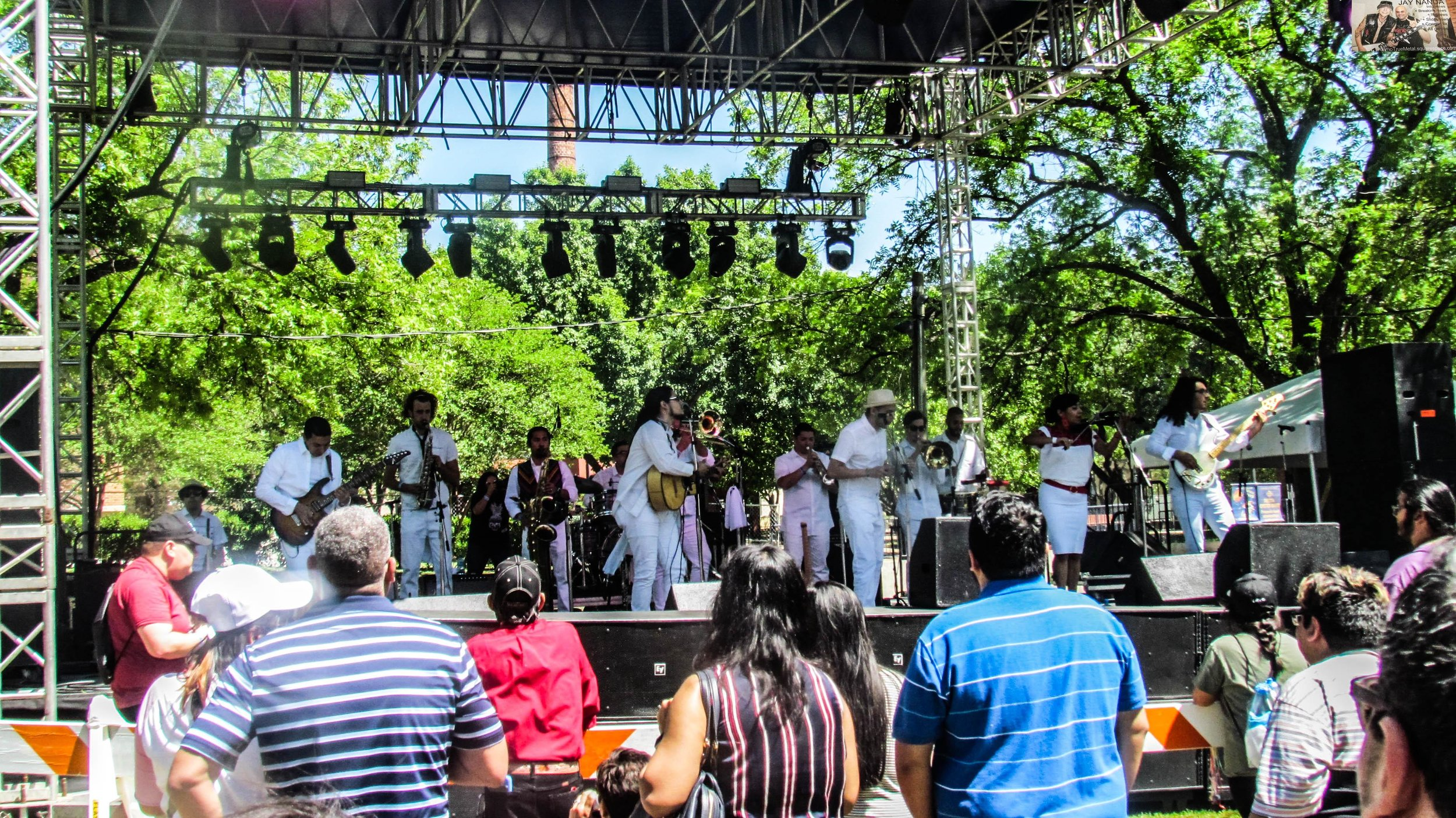 A Tejano band performs during last Saturday's 103rd annual Fiesta Oyster Bake.