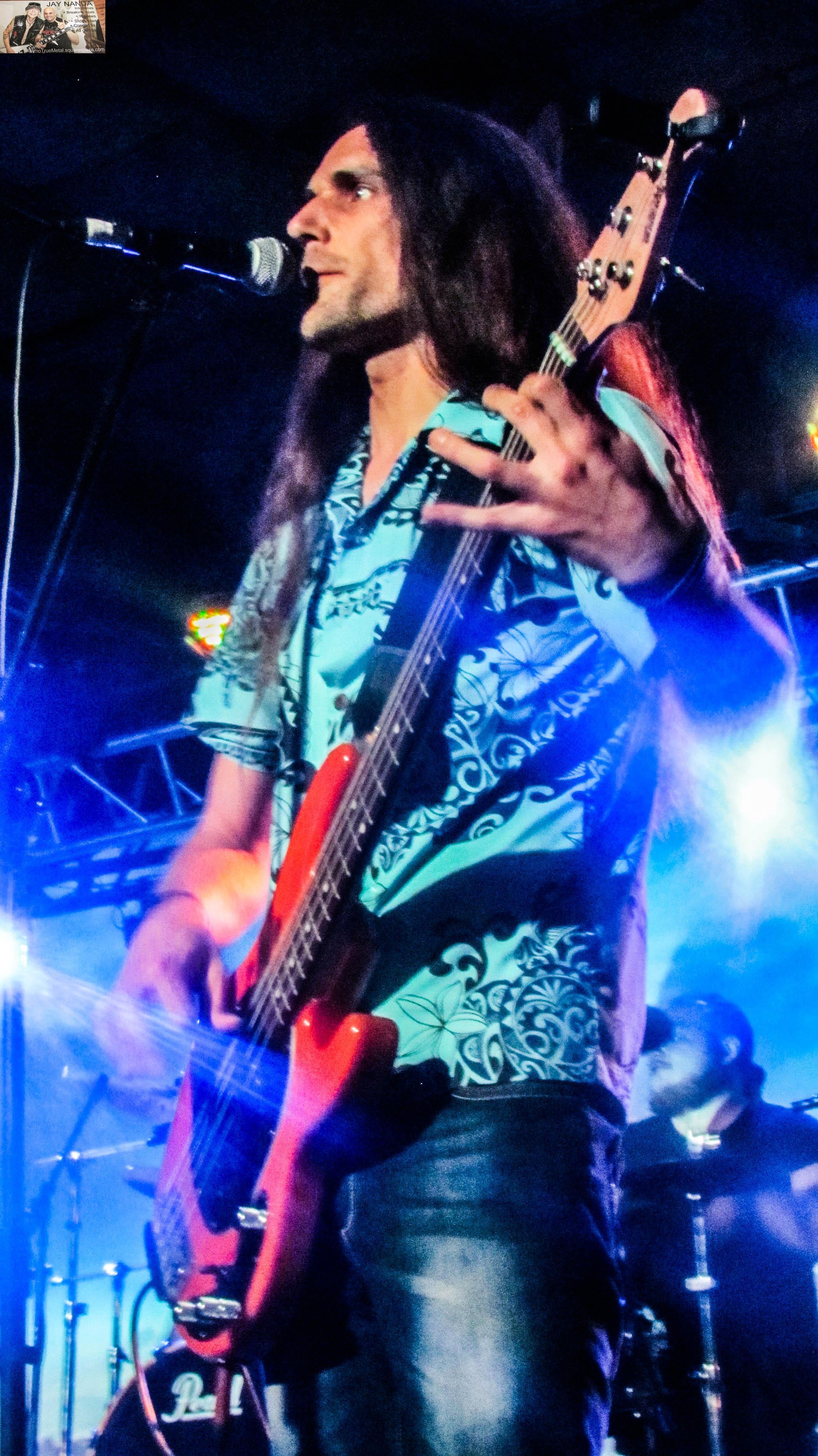 Nico Deppisch strums the bass.