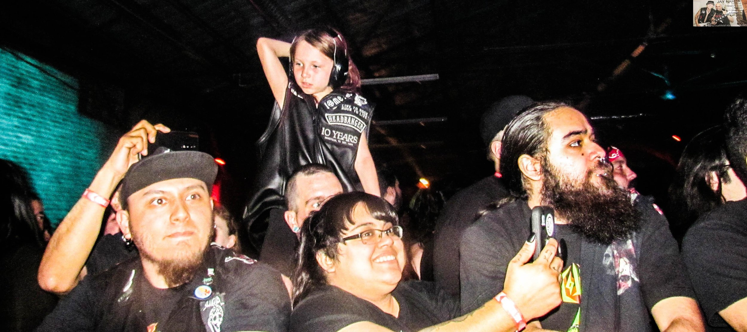 Lucy was eventually called up on stage along with her father by Agnostic Front and got to jam with the band for a song.