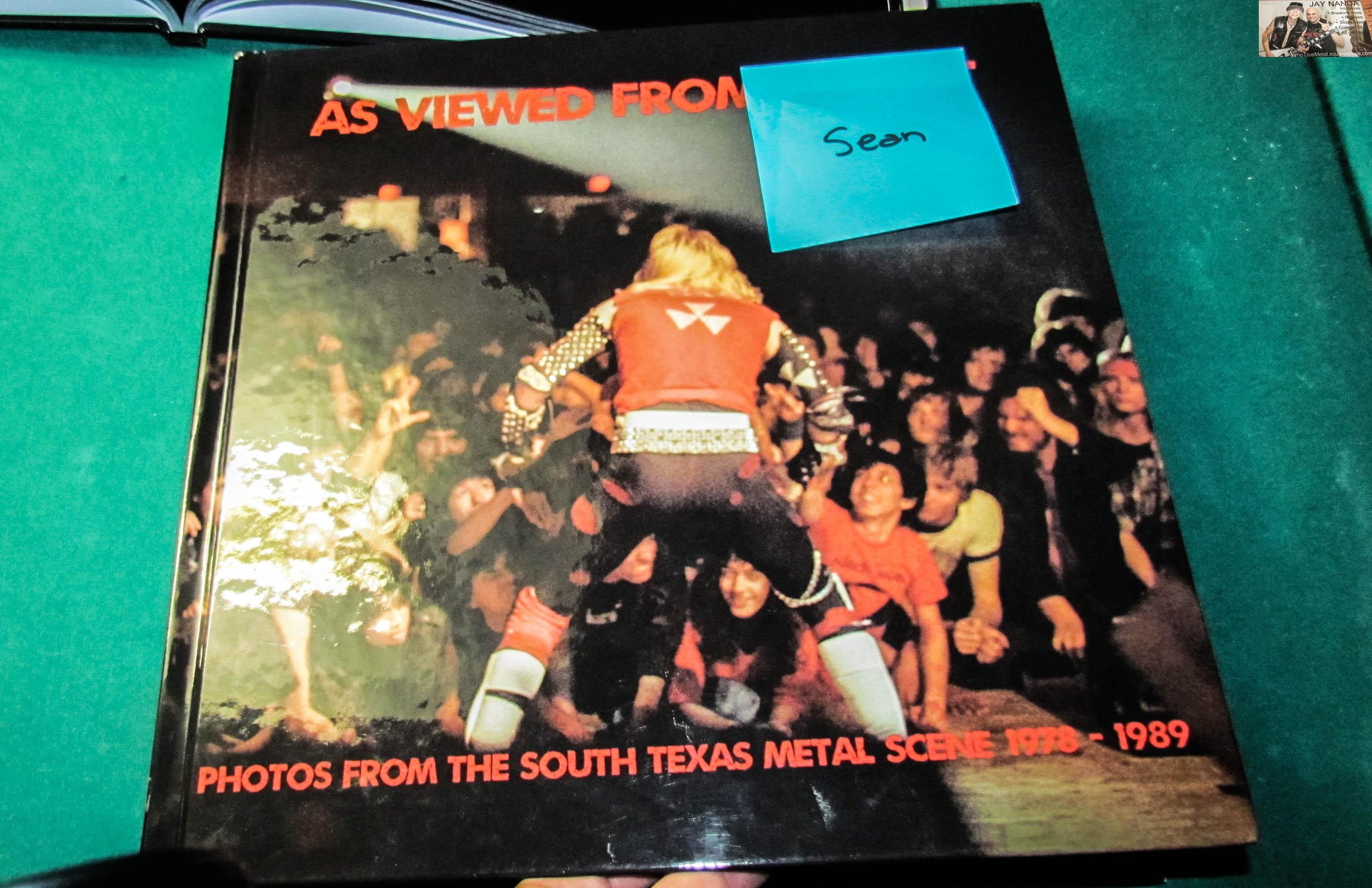 "In addition to the music, the night celebrated the release of Juan Herrera's book ""As Viewed From the Pit: Photos From the South Texas Metal Scene: 1978-89"" that some of the subjects on hand, plus Herrera, autographed."
