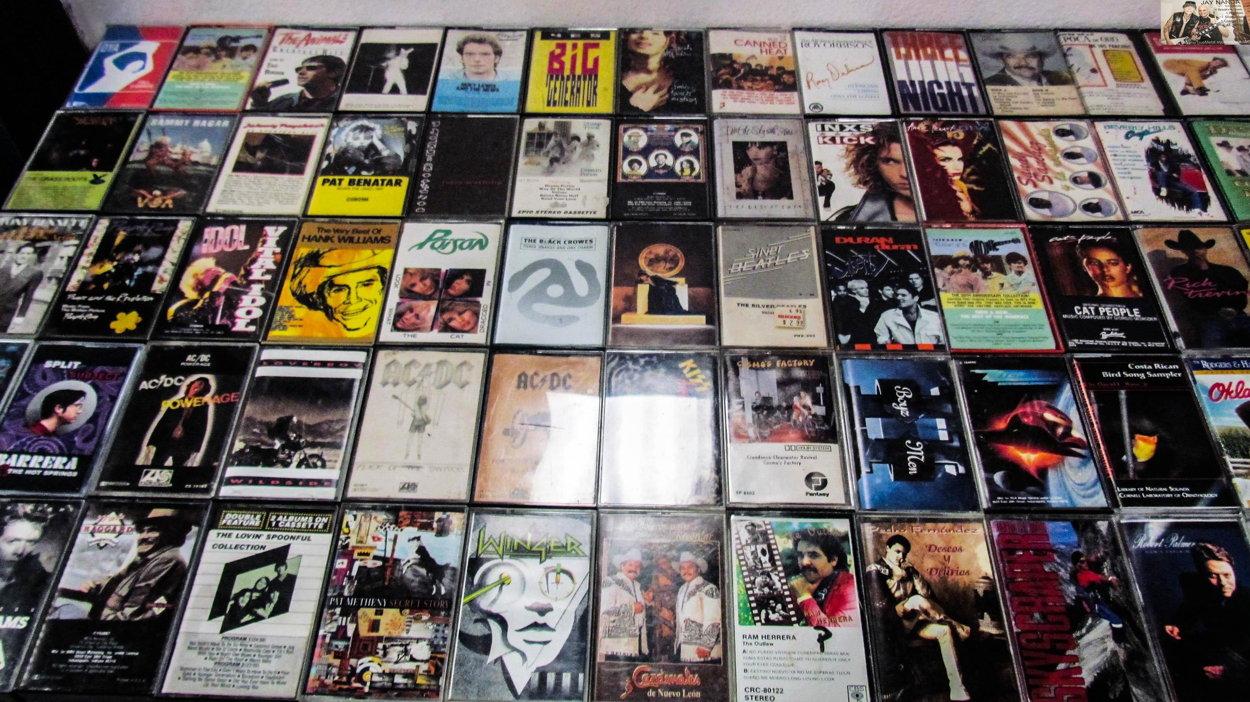 Cassettes are displayed neatly.