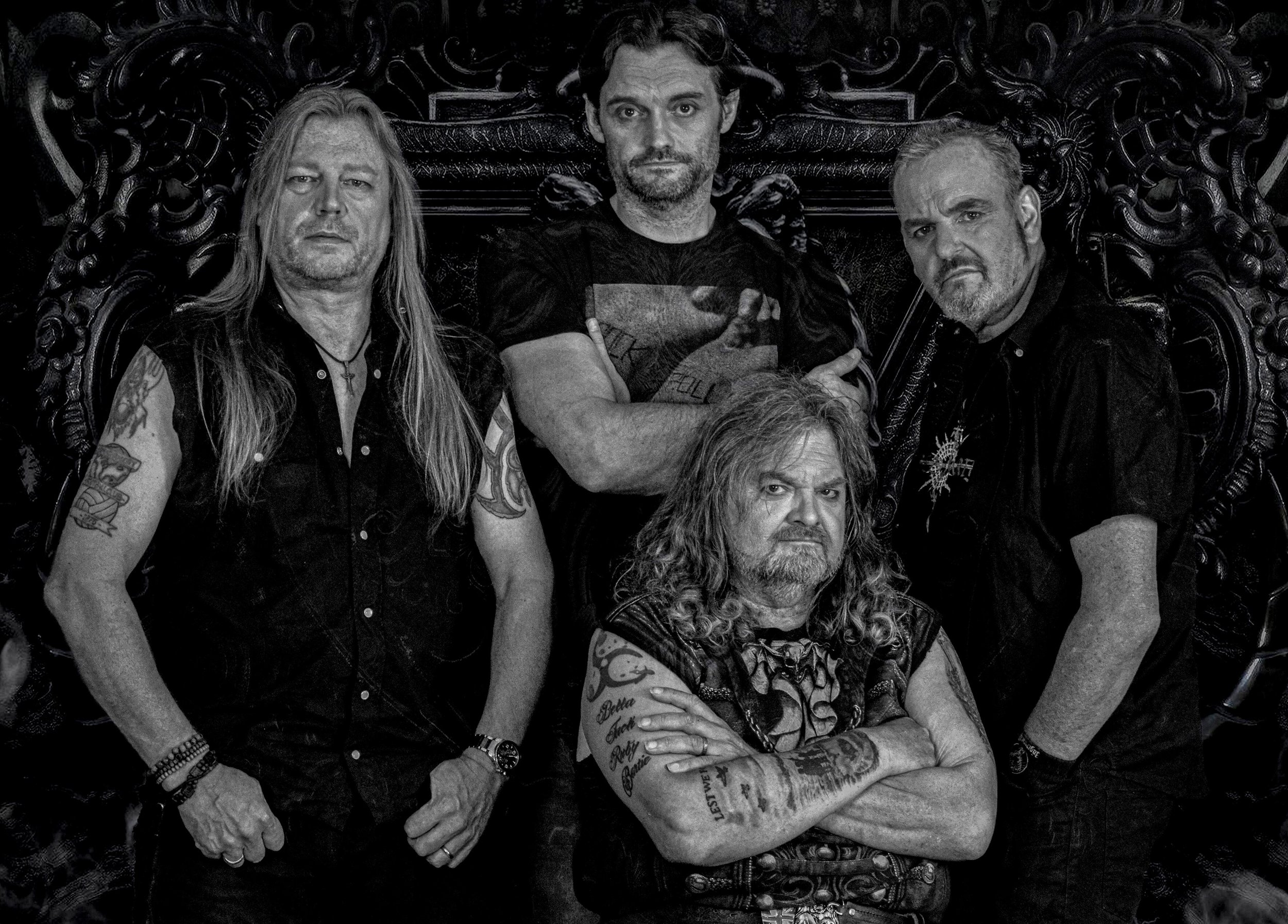 Steve Grimmett's Grim Reaper has embarked this weekend on a new tour after the original vocalist of the New Wave of British Heavy Metal band had his right leg amputated four months after his previous San Antonio visit in October 2016 (photo courtesy Chipster PR)