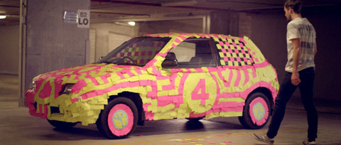 Post it note race car - Vodafone Like a Child Television commercial