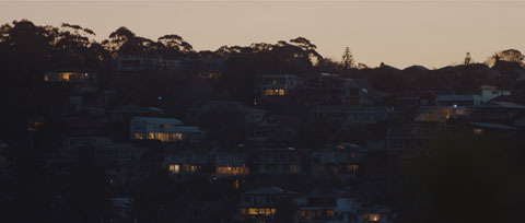 Northern beaches house lights at dusk - Transgrid Make It Happen, Staff Recruitment Video ProductionVideo prduction, Australian Cinematography Award winning project