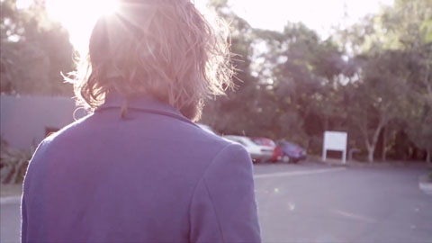 Filming Angus Stone from over his shoulder - Angus Stone Guiness Arthur's Day Film production Toby heslop