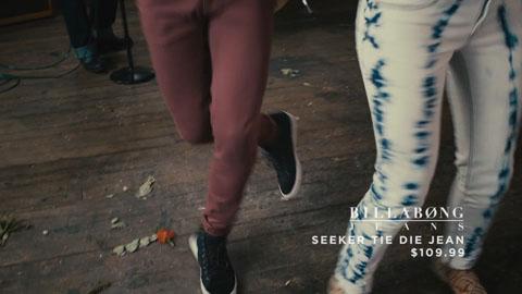 Billabong seeker tie die jeans - SDS Till Death Do US Part Film Production - DP Toby Heslop
