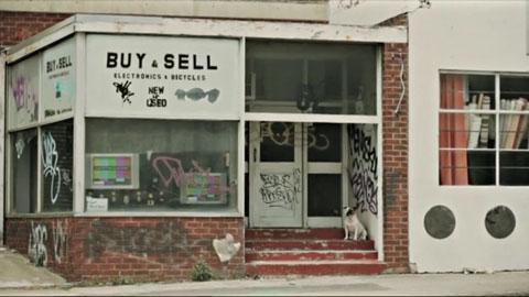 Empty shop front apocalipse - Channel [V] - Rhianna Invades Video Broadcast Promo
