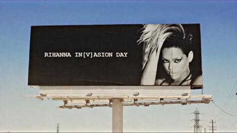 Rhianna Invasion day billboard - Channel [V] - Rhianna Invades Video Broadcast Promo