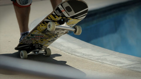 Skating up to the pool - Mountain Dew My Office Video advertising production - DOP / Director Toby Heslop
