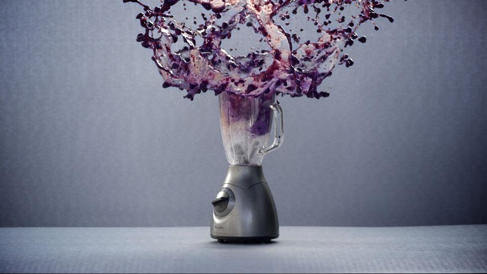 Blending blue berries - Wrigley's 5 Gum Slow motion video experiments, DoP Toby Heslop