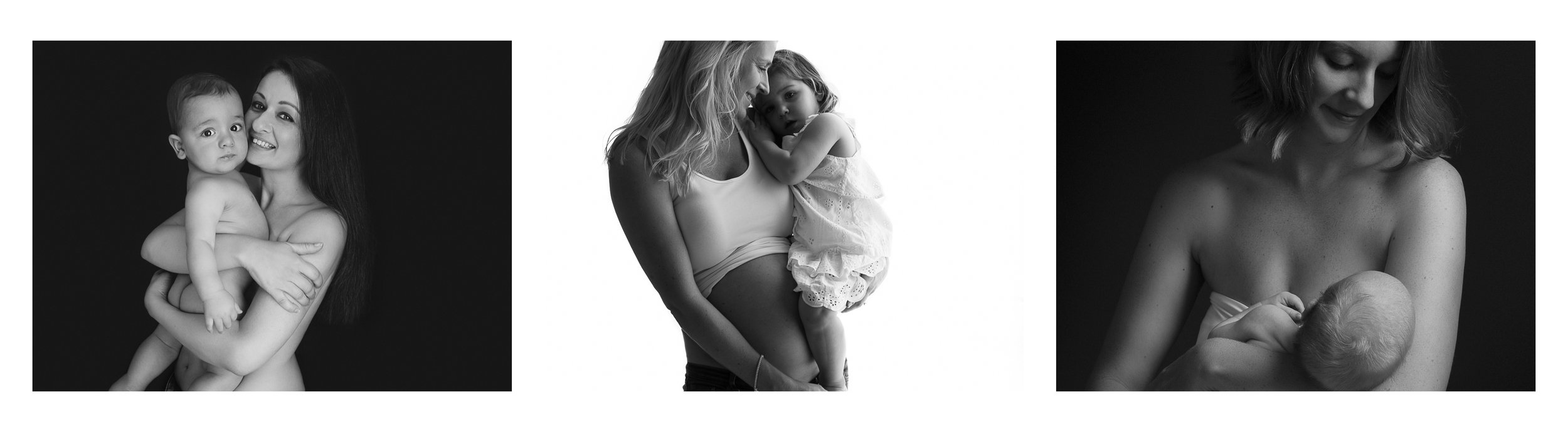 TRYPTICH Motherhood Mums Family Black and White Baby Portrait Photography Analia Paino Portrait Photography.jpg