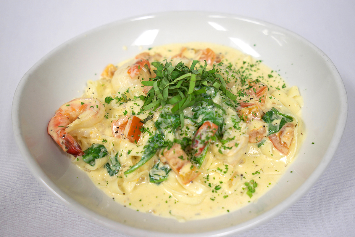 Shrimp and Scallop Florentine