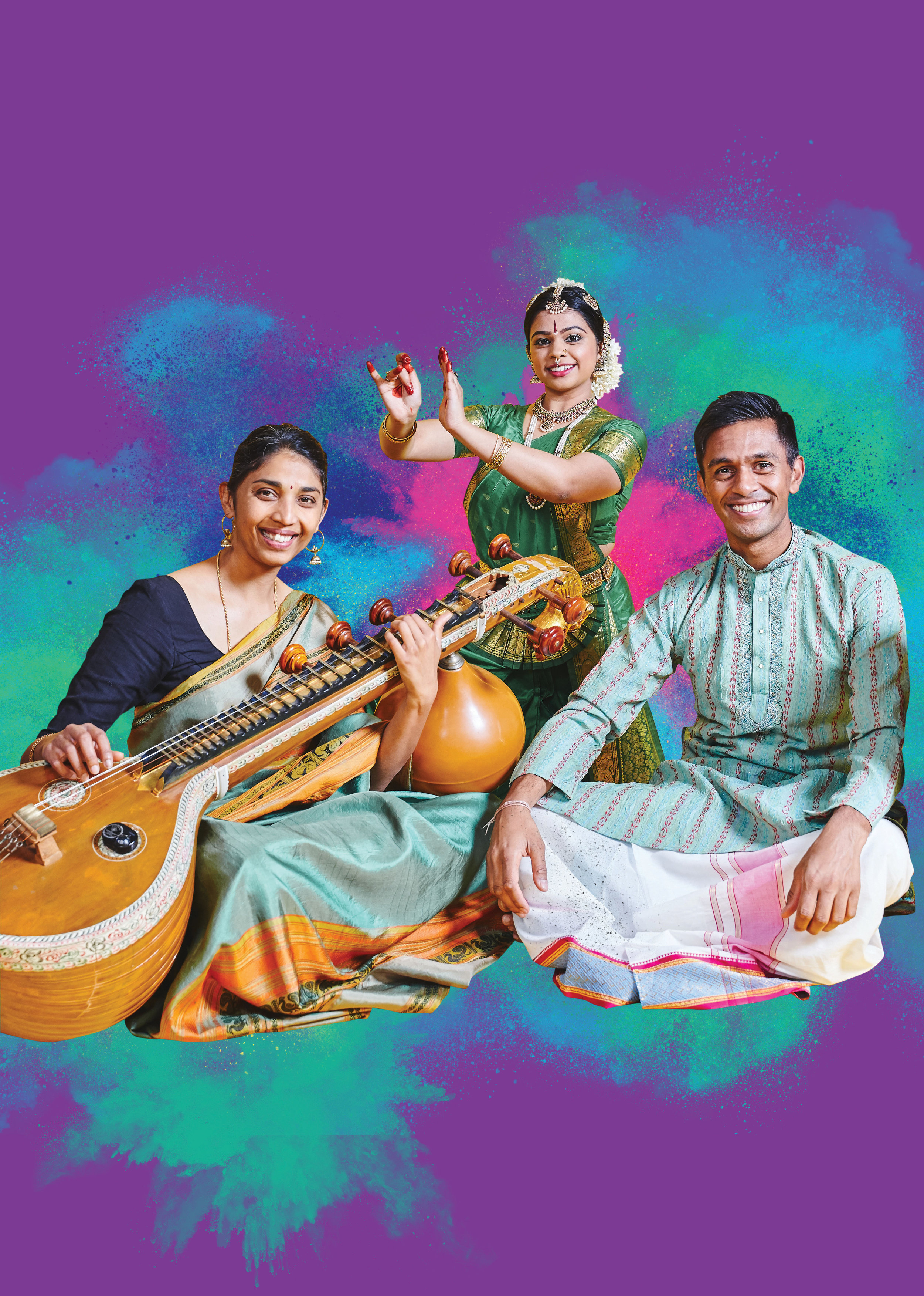 Following on from the success of Ātma: Music and Movement (2017) and Bhakti: Art and Devotion (2018) staged for the festival, Arjunan Puveendran (voice, mridangam) and Indu Balachandran (veena) present Bhoomi: Woman and Earth. The recital weaves ancient texts and traditions into the lens of contemporary society to present themes that are more vital than ever—the feminine and the environment. The event will draw on a combination of music, dance, spoken word and ritual practice. SSMF 2019