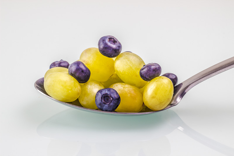 Anytime grapes and blueberries