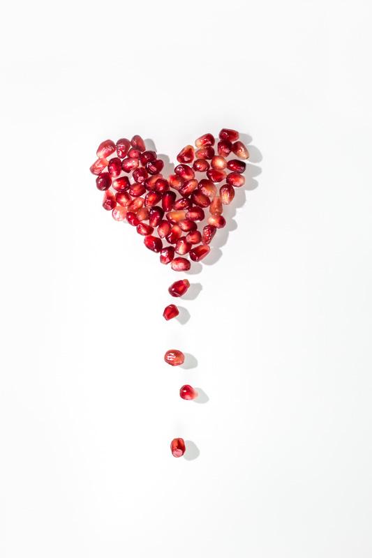 I heart you (Pomegranate Seeds)