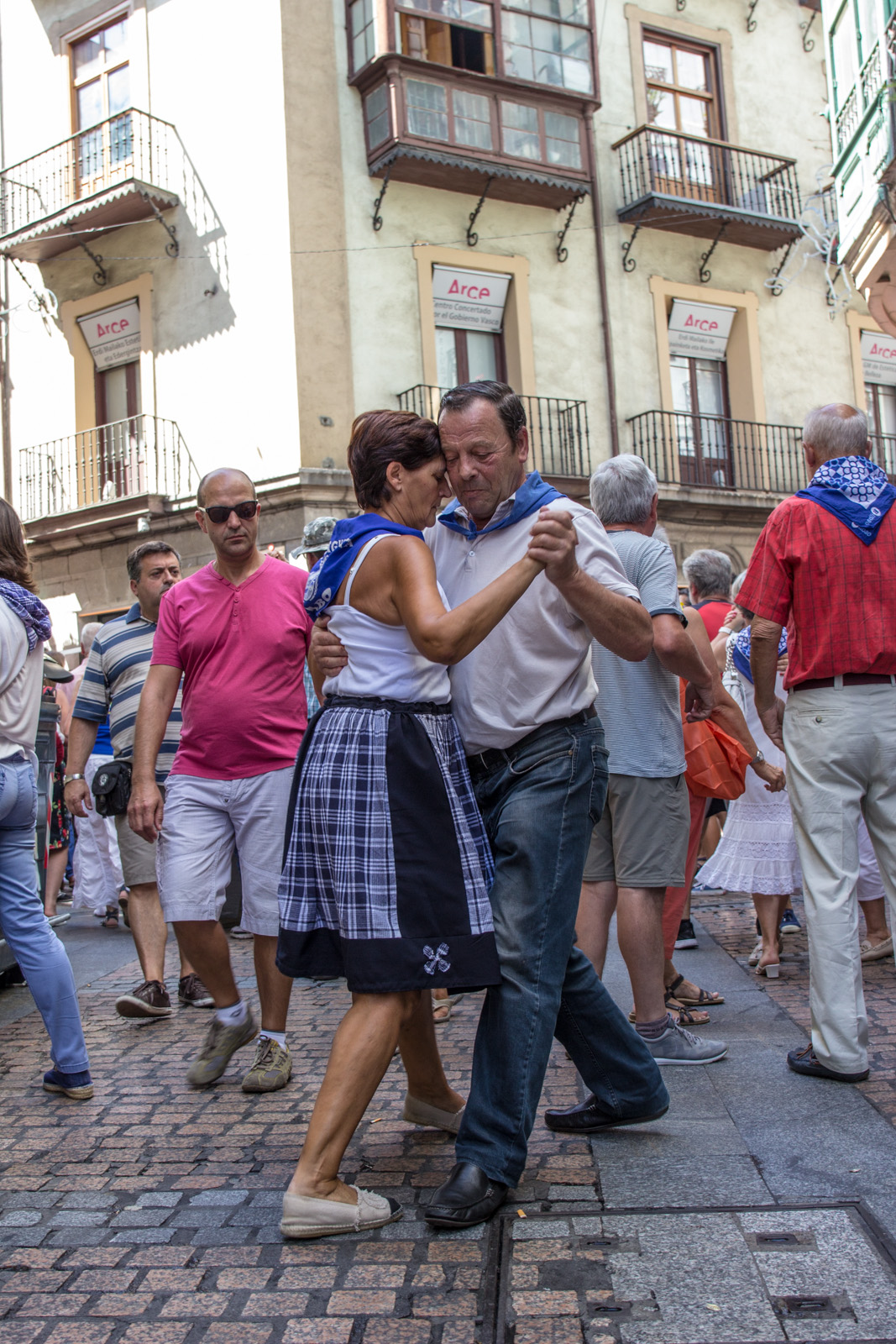 "Dancing in the heart of Aste Nagusia, Bilbao 2015. This piece will be exhibited in Institute Cervantes Dublin in collaboration with Photo Ireland under the ""Hispanic World"" theme. May and June 2017"