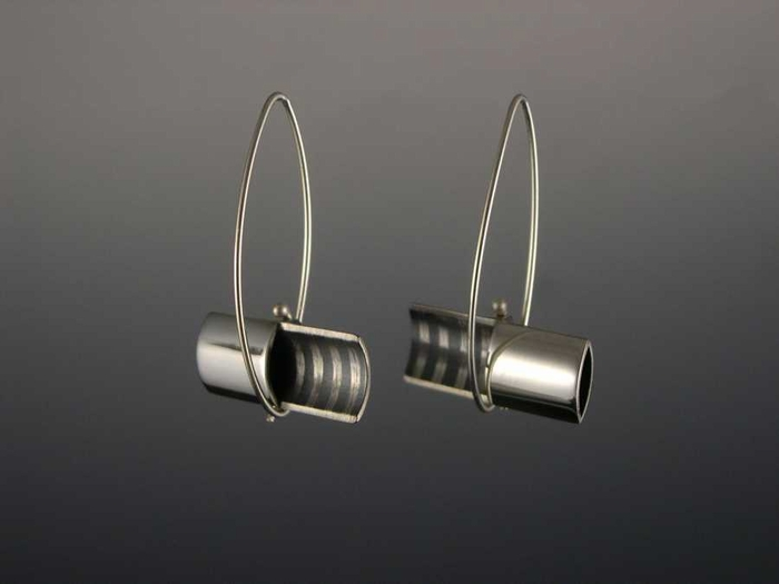 Half Open Rectangle Earrings