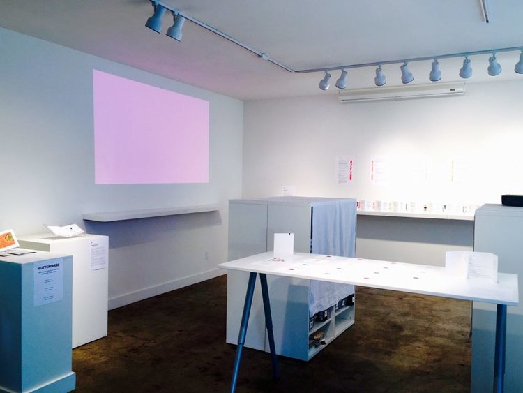Multimedia installation featuring  Mutterfarbe  at 23 Sandy Gallery, 2016.
