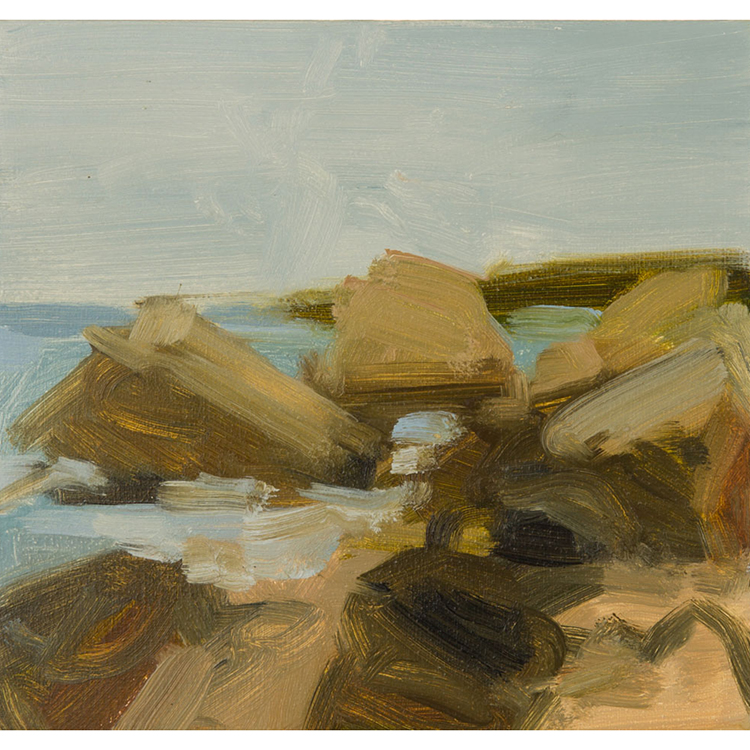 "Erratics North Shore 5"" x 5 1/2"" oil on panel 1999"