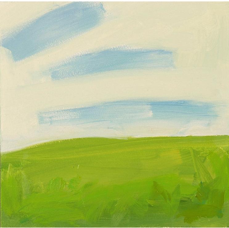 "Simple Landscape 5"" x 5"" oil on panel 2016"